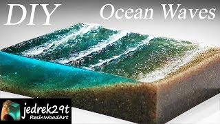 Ocean Waves 🌊 From Resin. Diorama DIY / RESIN ART