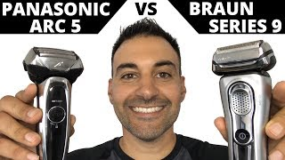 Beard Shaving - Panasonic Arc 5 Electric Shaver vs Braun Series 9 Foil Shaver
