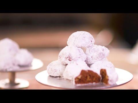 Chocolate Walnut Snowball Cookies