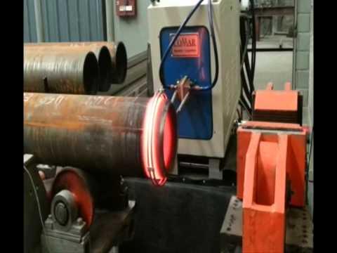 Calentamiento por induccion de tubo petroleo
