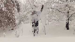 preview picture of video 'Mountain Unicycling and  the snow...'