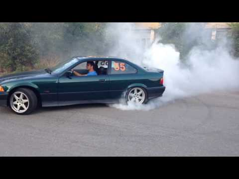 BMW E36 328i Donut + Burnout