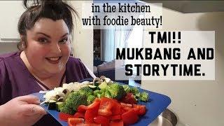 TMI MUKBANG HONEY GARLIC STIR FRY AND STORYTIME EAT WITH ME! - Video Youtube
