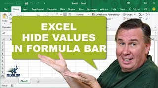 Learn Excel - Hide Values in Formula Bar? - Podcast #1827a