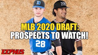 MLB 2020 Draft Prospects to Watch