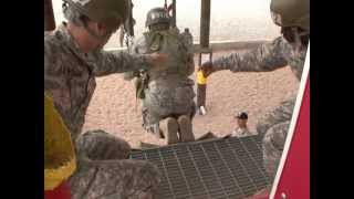 Airborne students in their second week of training take a leap of faith