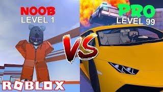 Noob Vs Pro New Cop Xp Glitch Roblox Jailbreak Winter Update