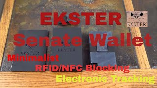 Ekster Senate Minalimist Wallet With RFID & NFC Protection & Electronic Tracking