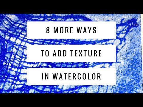 watercolor painting techniques using household items by dr oto kano