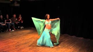 "Veil Belly dance to ""Wishful Thinking"" ~ Sira Bellydancer NYC"