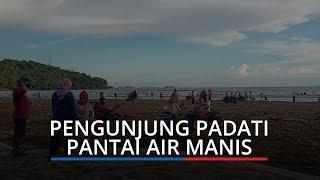 Pantai Air Manis Kota Padang Ramai Pengunjung, Pedagang Keluhkan Sepi Pembeli