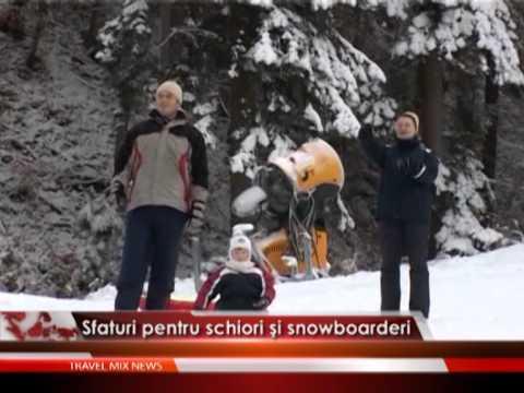 Sfaturi pentru schiori și snowboarderi