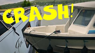 River Boat CRASHES Into Our Narrowboat!