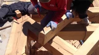 Estructura De Madera Con Ensamble Tradicional