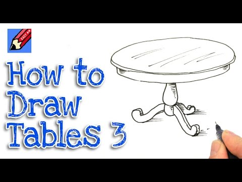 How to draw a small round table – Number Four | Shoo Rayner - Author