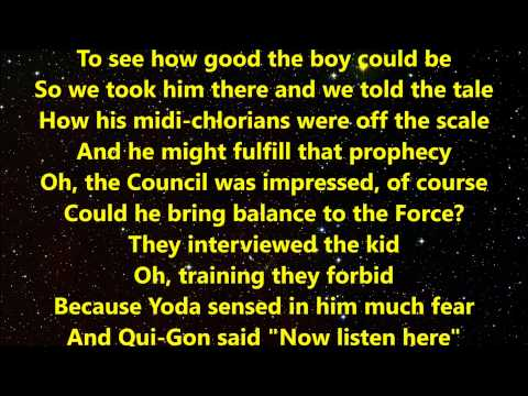 """Weird Al"" Yankovic – The Saga Begins with Lyrics"