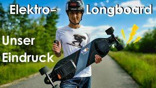 ⚡ Elektro-Longboard im Test ⚡ - Unsere Meinung zu E-Skates: Endlos fahren ohne Pushen?! [Meepo V2]