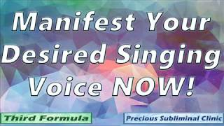 Get Your Desired Singing Voice - 3rd Formula [Affirmation+Frequency] - INSTANT RESULTS