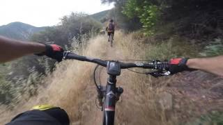 Riding down Gridley Trail in Ojai, CA. Full ride top to bottom.