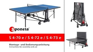Sponeta S 4-70 / 72 / 73 e - Montageanleitung Tischtennistisch / Instructions for assembly and use