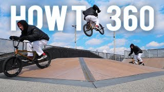 HOW TO 360 ON A BMX *FAST LEARN*