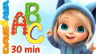 💕 ABC Song & Colors | Nursery Rhymes and Kids Songs by Dave and Ava 💕