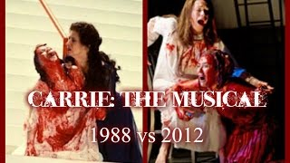 """Carrie: The Musical - """"Carrie(Reprise)/Once You See"""" w/ Lyrics (1988 vs 2012)"""