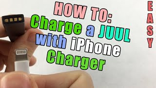 how to charge a juul without a juul charger iphone