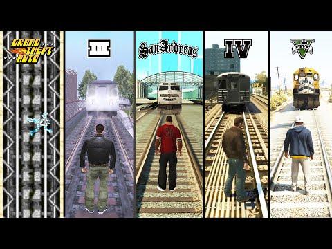在GTA歷代遊戲裡給火車撞