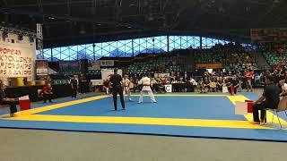 Filip Szeller vs Andrei Zinchenko European Championships Shinkyokushin karate Wrocław 2018r.