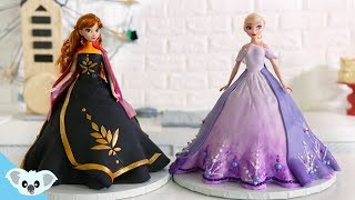 FROZEN 2  Princess Doll Cake | Amazing Elsa And Anna Cake Ideas | How To | Koalipops