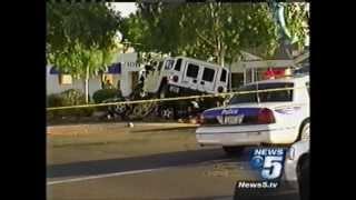 H1 Hummer Crash with Honda Accord
