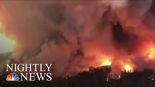 Dozens Of American Firefighters Join Australian Fire Crews At Front Lines   NBC Nightly News
