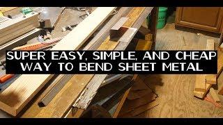 Simple yet brilliant DIY sheet metal bending brake tool, with radius bends!