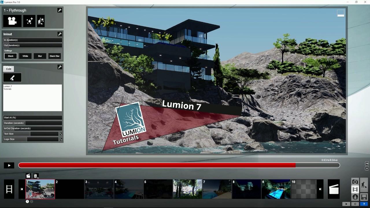 エフェクト:タイトルータイトルサブカラーの変更(Lumion7 series)
