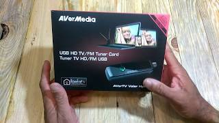 AverMedia Portable USB TV Tuner: 3 Channel viewing option and FM radio