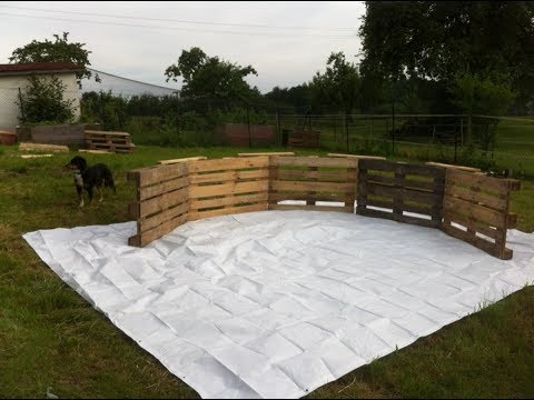 This Backyard Swimming Pool Made Out Of Pallets Will Make Your Neighbors So jealous