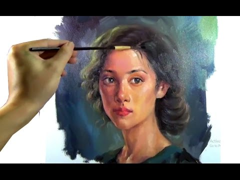 oil painting portrait girl tutorial by artpaintingworkshop