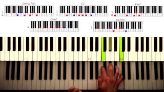How To Play: Just The Two Of Us - Bill Withers, Will Smith, Etc. Original Piano Lesson. Tutorial