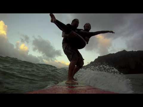 3/9/10 Kahana Bay Tandem and Longboard