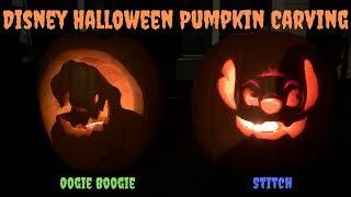 Disney Halloween Pumpkin Carving!