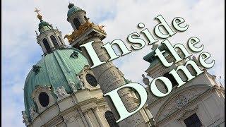 Inside the dome of St Charles's church Vienna   In der Kuppel der Karlskirche Wien