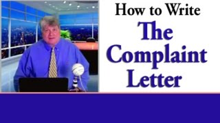 Complaint Letter--How to Write an Effective Letter/Email of Complaint