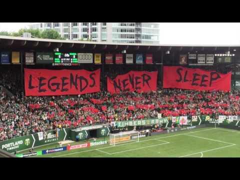 'Legends Never Sleep': Portland Timbers tifo