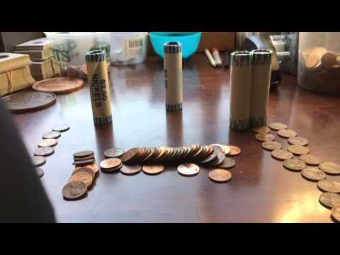 GAS STATION VS. STORE -Coin Roll Hunting Experiment-