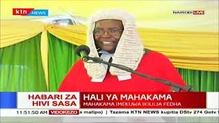 CJ David Maraga to President Uhuru: You are playing in a higher league that I can't complete in