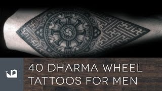 40 Dharma Wheel Tattoos For Men