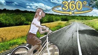 Панорамное Видео 360 VR 4K для очков виртуальной реальности. Покатушки на велосипеде