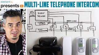 Multi-Line Telephone Intercom