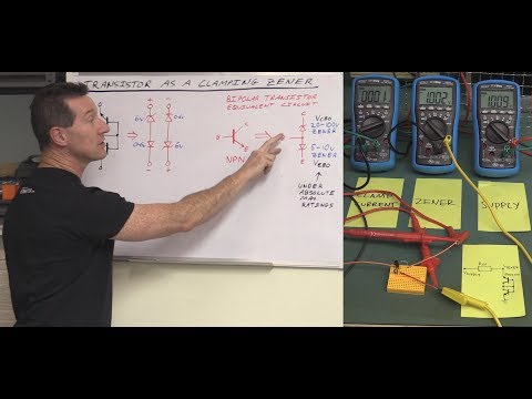 EEVblog #1157 - Transistor Zener Clamp Circuit